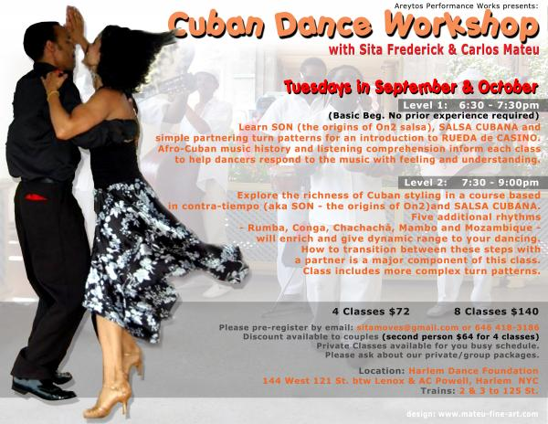 Cuban Dance Workshops – Sept/Oct 2009